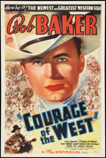 "Movie Posters:Western, Courage of the West (Universal, 1937). One Sheet (27"" X 41""). Western.. ..."