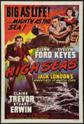 "Movie Posters:Adventure, The Adventures of Martin Eden (Devonshire Films, R-1948). One Sheet (27"" X 41""). Adventure. Reissued as High Seas.. ..."