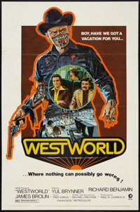 """Westworld (MGM, 1973). One Sheet (27"""" X 41"""") and Presskit (Multiple Items, 9"""" X 12""""). Science Fictio..."""
