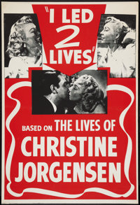 "Glen or Glenda (I Led Two Lives) (Screen Classics Inc., 1953). One Sheet (28"" X 41""). Cult Classic"