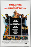 "Movie Posters:Blaxploitation, Three the Hard Way (Allied Artists, 1974). One Sheet (27"" X 41"").Blaxploitation.. ..."