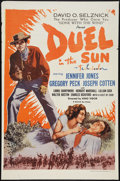 "Movie Posters:Drama, Duel in the Sun (Selznick, R-1960). One Sheet (27"" X 41""). Drama.. ..."