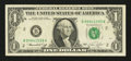 Error Notes:Obstruction Errors, Fr. 1908-B $1 1974 Federal Reserve Note. Very Fine.. ...