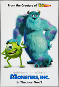 "Movie Posters:Animated, Monsters, Inc. Lot (Buena Vista, 2001). One Sheet (27"" X 40"") DS Advance and Mini Poster (18.5"" X 27"") SS Advance. Animated.... (Total: 2 Items)"
