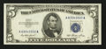 Error Notes:Foldovers, Fr. 1655 $5 1953 Silver Certificate. Very Choice CrispUncirculated.. ...