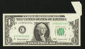 Error Notes:Foldovers, Fr. 1900-C $1 1963 Federal Reserve Note. Very Fine+.. ...