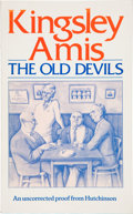 Books:First Editions, Kingsley Amis. The Old Devils. London Melbourne AucklandJohannesburg: Hutchinson, [1986]. Uncorrected proof copy of...