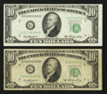 Error Notes:Skewed Reverse Printing, Fr. 2011-G $10 1950A Federal Reserve Notes. Two Examples.. ...(Total: 2 notes)