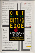 Books:Signed Editions, Lawrence Block. Out on the Cutting Edge. A Matt Scudder Mystery. New York: William Morrow and Company, Inc., [19...