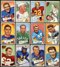 Football Cards:Lots, 1952 Bowman Football Large and Small Collection (67). ...
