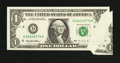 Error Notes:Foldovers, Fr. 1921-D $1 1995 Federal Reserve Note. Extremely Fine-AboutUncirculated.. ...