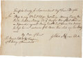 Autographs:Military Figures, Gold Selleck Silliman Autograph Colonial Court Document Signed and endorsed by William Samuel Johnson on the verso, with wri...