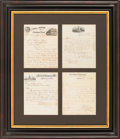 Autographs:Statesmen, Mobile & Ohio Rail Road Company Letters (Four), dated between 1869 and 1878. Three of the letters are requests for free trav...