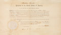 Autographs:U.S. Presidents, Abraham Lincoln Political Appointment Signed and countersigned byState Secretary William H. Seward. One partially-printed p...