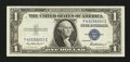 Error Notes:Ink Smears, Fr. 1615 $1 1935F Silver Certificate. Gem Crisp Uncirculated.. ...