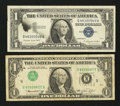 Error Notes:Error Group Lots, Fr. 1620 $1 1957A Silver Certificate. Very Fine-Extremely Fine;.Fr. 1908-E $1 1974 Federal Reserve Note. Fine.. ... (Total: 2notes)