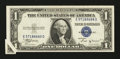 Error Notes:Attached Tabs, Fr. 1611 $1 1935B Silver Certificate. Extremely Fine-AboutUncirculated.. ...