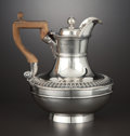 Silver Holloware, British:Holloware, A GEORGE III SILVER TEAPOT WITH WOOD HANDLE . Paul Storr, London,England, 1811-1812. Marks: (lion passant), (leopard's head...