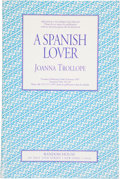 Books:First Editions, Joanna Trollope. A Spanish Lover. New York: Random House,1993. Advance uncorrected proof of the first edition. ...