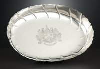A WILLIAM IV SILVER OVAL DISH Paul Storr, London, England, 1836-1837 Marks: (lion passant), (leopard's head)