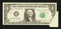 Error Notes:Attached Tabs, Fr. 1913-B $1 1985 Federal Reserve Note. Very Fine.. ...