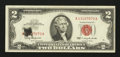 Error Notes:Ink Smears, Fr. 1513 $2 1963 Legal Tender Note. Very Fine.. ...