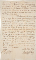 "Autographs:Statesmen, Moses Austin Bail Bond Signed. One page, 7.5"" x 12.5"", Ste.Genevieve, Missouri, April 5, 1812...."