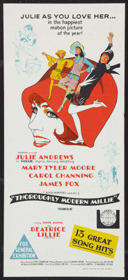 "Thoroughly Modern Millie Lot (Universal, 1967). Australian Daybills (2) (13"" X 30""). Musical. ... (Total: 2 It..."