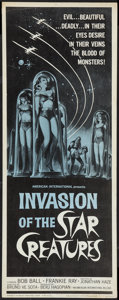 "Movie Posters:Science Fiction, Invasion of the Star Creatures (American International, 1962).Insert (14"" X 36""). Science Fiction.. ..."