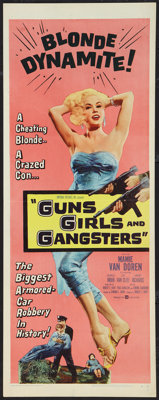 """Guns, Girls and Gangsters (United Artists, 1959). Insert (14"""" X 36""""). Crime"""