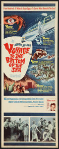 """Movie Posters:Adventure, Voyage to the Bottom of the Sea (20th Century Fox, 1961). Insert (14"""" X 36""""). Adventure.. ..."""