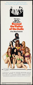 "Movie Posters:Sexploitation, Beyond the Valley of the Dolls (20th Century Fox, 1970). Insert(14"" X 36""). Sexploitation.. ..."