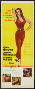 "Movie Posters:Crime, The Burglar (Columbia, 1957). Insert (14"" X 36""). Crime.. ..."