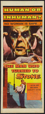 """The Man Who Turned to Stone (Columbia, 1957). Insert (14"""" X 36""""). Science Fiction"""