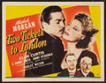 "Movie Posters:War, Two Tickets to London (Universal, 1943). Half Sheet (22"" X 28"").War.. ..."