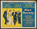 "Movie Posters:Musical, High Society (MGM, 1956). Half Sheet (22"" X 28"") Style B. Musical.. ..."