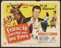 "Francis Covers the Big Town (Universal International, 1953). Half Sheets (2) (22"" X 28"") Styles A and B. Comed..."