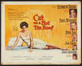 """Movie Posters:Drama, Cat on a Hot Tin Roof (MGM, 1958). Half Sheet (22"""" X 28"""") Style B. Drama.. ..."""