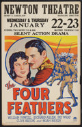 """Movie Posters:Adventure, The Four Feathers (Paramount, 1929). Window Card (14"""" X 22"""").Adventure.. ..."""