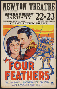 "The Four Feathers (Paramount, 1929). Window Card (14"" X 22""). Adventure"