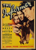 "Movie Posters:Drama, The Informer (RKO, 1935). Midget Window Card (8"" X 11""). Drama....."