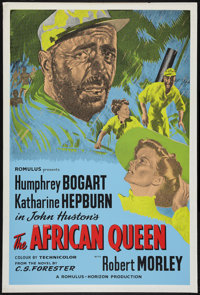 "The African Queen (Romulus, R-1950s). British One Sheet (27"" X 40""). Adventure"