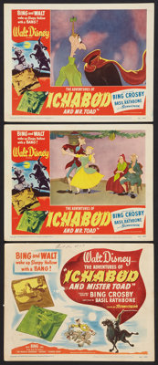 """The Adventures of Ichabod and Mr. Toad (RKO, 1949). Title Lobby Card and Lobby Cards (2) (11"""" X 14""""). Animated..."""