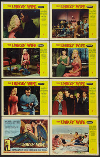 """The Unholy Wife (RKO, 1957). Lobby Card Set of 8 (11"""" X 14""""). Crime. ... (Total: 8 Items)"""