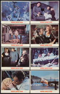 "Where Eagles Dare (MGM, 1968). Lobby Card Set of 8 (11"" X 14""). War. ... (Total: 8 Items)"
