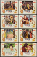"""Movie Posters:Romance, Paris When it Sizzles (Paramount, 1964). Lobby Card Set of 8 (11"""" X 14""""). Romance.. ... (Total: 8 Items)"""