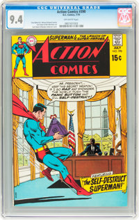 Action Comics #390 (DC, 1970) CGC NM 9.4 Off-white pages