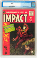 Golden Age (1938-1955):Horror, Impact #2 Gaines File Copy (EC, 1955) CGC NM 9.4 Off-white to whitepages....