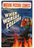 Golden Age (1938-1955):Science Fiction, Motion Picture Comics #110 When Worlds Collide (Fawcett, 1952)Condition: VG/FN....