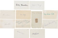 Baseball Collectibles:Others, Baseball Stars and Hall of Famers Signed Index Cards Lot of 11....